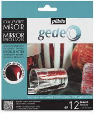 Gedeo Rojo de Color Efecto De Espejo De Metal de hoja de papel aluminio Hojas 12 Hojas Dorado Pebeo