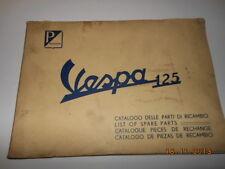 Vespa 125 Piaggio catalogo parti di ricambio completo conservato