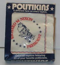 1972 Politikins Political Napkins Nixon Reagan & Others