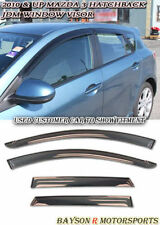 Window Rain Guard Visors (Tinted) Fits 10-13 Mazda 3 5dr