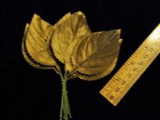 """Vintage Millinery Flower Leaf Bronze 2 1/2"""" Lot 10p for Hat Wedding + Hair Ke5 B"""