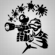 """Paintball Wall Decals, Paintball Room Theme, Paintball Sticker 22"""""""