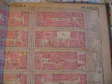 Original 1930 New York City Nyc Atlas Linen Map 71 - 77 York Ave to 3rd