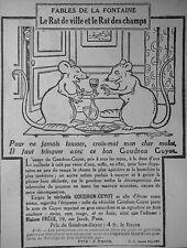 PUBLICITÉ GOUDRON GUYOT FABLES DE LA FONTAINE RAT DE VILLE ET LE RAT DES CHAMPS