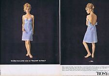 PUBLICITE ADVERTISING 015 1965 ROSY DOLL lingerie   (2 pages)