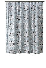 Threshold Blue/Brown Medallion Pattern Shower Curtain 72x72