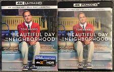 A BEAUTIFUL DAY IN THE NEIGHBORHOOD 4K ULTRA HD BLU RAY 2 DISC SET + SLIPCOVER