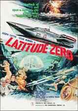 LATITUDE ZERO Japanese B1 movie poster SCI-FI ISHIRO HONDA 1969 JOSEPH COTTEN