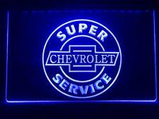 Chevrolet Car Super Service LED Neon Light Sign Display Kit Banner Club Plate