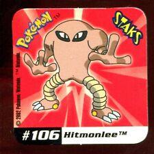 STAKS MAGNET AIMANT POKEMON N° 106 HITMONLEE E
