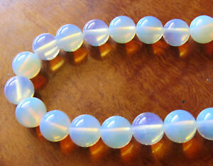 40pcs 10mm Round Created Gemstone Beads - Opalite