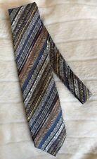 Tino Cosura Mens Neck Tie Necktie Silk Brown/Blue Italy Made