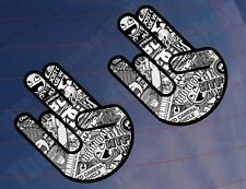2x SHOCKER STICKER BOMB Black & White Car/Van/Window/Bumper Printed Stickers