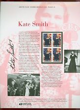 #4463 44c Kate Smith USPS #853 Commemorative Stamp Panel