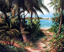 "ART FRONCKOWIAK, ""Bahama Sail "", Open edition, Image Size  24""h x 30""w"