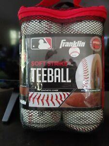 NEW FRANKLIN SOFT STRIKE TEEBALL BASEBALLS 6 PACK, FREE SHIPPING!