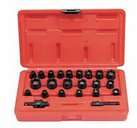 "Sunex Tools 1818 23 Piece 1/4"" Drive Master Magnetic Set 3/16-1/2 5-15Mm"