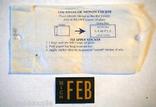 Michigan-Month-February-Commercial Vehicle License Plate/Sticker/Tab/Decal NOS37