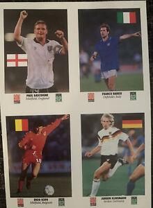Uncut Euro 92 90 Minutes Trade Card Paul Gasgoigne Gazza Jurgen Klinsmann Scifo