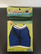 """Sporty Jogging Vest with stretchy leash. Large 8""""-10"""" neck, 12""""-14"""" body"""