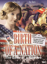 The Birth of a Nation (DVD, 1915) FIRST GREAT HOLLYWOOD FILM