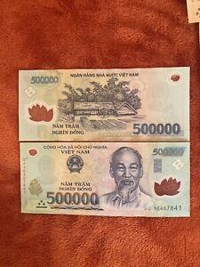 Vietnamese dong 500,000 x1 , New Polymer Notes Worldwide Shipping Vietnam Dong