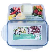 Bento Lunch Box Kids & Adults. 2 Compartments and one compartment for sauce.