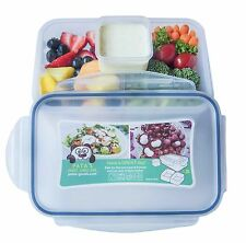 Bento Lunch Box for Kids & Adults with 2 Compartments and One Sauce Container