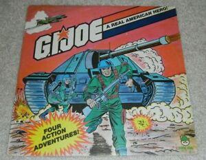 Lot 1982 GI Joe Four Action Adventures Peter Pan 33 RPM Vinyl Record LP Album