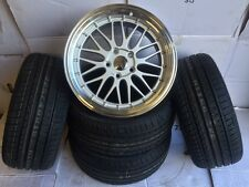 "19""dare lm silver pol alloy wheels bmw 5 series e60 /e61/ e39 with tyres"