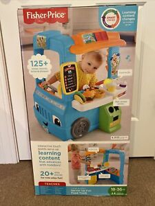 Fisher-Price Servin' Up Fun Food Truck Kitchen Learning Pretend Play Toddler NEW