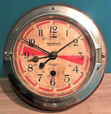 Antique Sestrel Henry Browne & Son Ltd Navy Marine Ship Wooden Casing Wall Clock