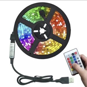 RGB LED Strip USB Colour Changing Lighting Kit 50cm -TV Background Light+ Remote