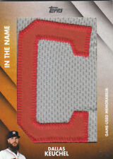 2017 Topps Update In the Name Relics #OTNDK Astros Dallas Keuchel 1/1 Jsy Patch