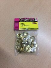 W4 Brass Eyelets - 3/8in./9.5mm - Pack of 20