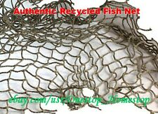 5pc of Authentic Recycled Fish Netting, Fishnet Nautical, [Scraps for Crafting]