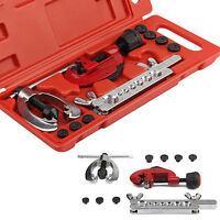 Kit 10Pcs Brake Pipe Flaring Kit Fuel Repair Tool Set Tube Cutter With Case