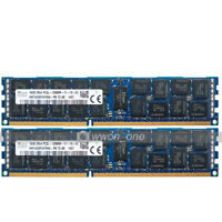 Hynix 32GB 2x16GB 2RX4 PC3L-12800R DDR3 1600MHz 240Pin ECC REG Server Memory RAM