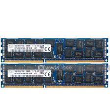 Hynix 32GB 2x16GB 2RX4 PC3L-12800R DDR3 1600MHz 240Pin ECC REG Server Memory RAM