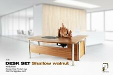 "DDPTOYS BJ003A Dest & Chair Set Shalow Walnut 1/6 fit for 12"" action figure"