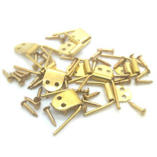 Dollhouse Metal Hinge Gemel 10 Hinges and 20 Nails Miniature DIY Accessories