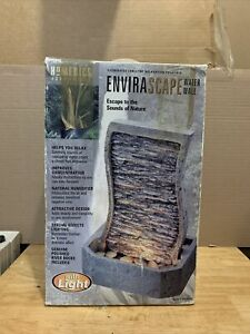 Homedics Envirascape WATER WALL W/LIGHT 13 1/2'' TALL Excellent Condition