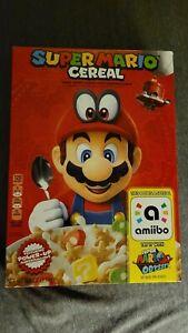 Nintendo SUPER MARIO CEREAL w/ amiibo Limited Edition Collectible Box Odyssey LE