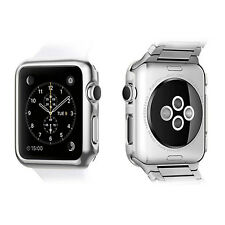 For Apple Watch Series 2 38mm (Silver) Cover Snap On Metal Case+Screen Protector