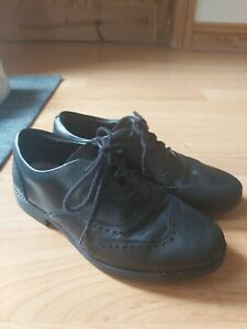 Girls clarks black school shoes size 2 H