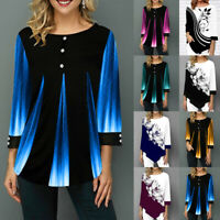Womens Blouses Loose Casual O-Neck Long Sleeve Shirt Top Blouse Female Tops