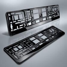 2 Kennzeichenhalter | SCHWARZ Hochglanz | Metallic | KLAVIERLACK | DHL-Versand