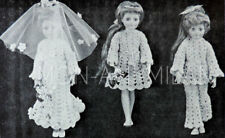 Crochet Pattern SINDY/SHEENA DOLLS CLOTHES WEDDING DRESS BRIDESMAID TROUSER SUIT