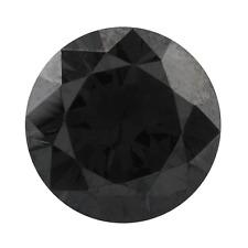 Grande 18mm Aspecto REDONDO NEGRO INTENSO Circonita Cúbica piedra preciosa