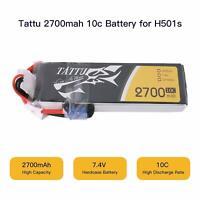 Tattu 2700mAh 2S 7.4V 10C Lipo Battery EC2 Plug For Hubsan x4 Pro H501S Pro H501